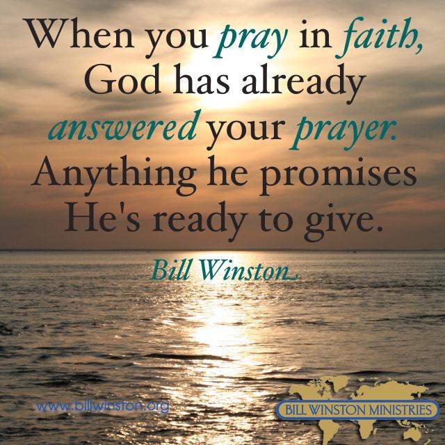 Pray in Faith! Believe you receive when you pray not when ...