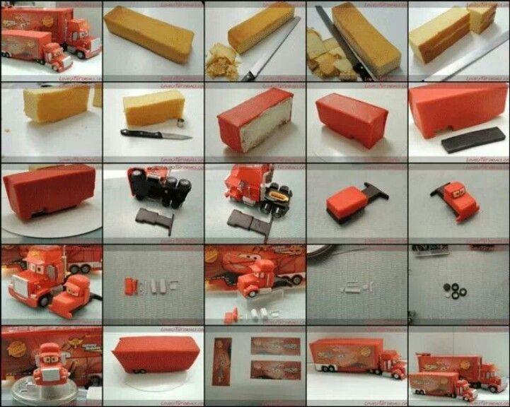 Tractor Trailer Cake Ideas cakepins.com