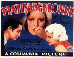 Jean Harlow, Robert Williams, and Loretta Young in Platinum Blonde (1931)