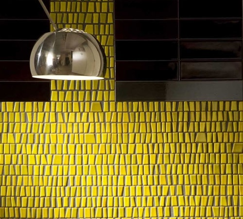 Yellow kitchen splashback  Toki Ceramica di Treviso