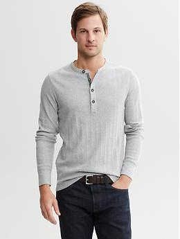 Heritage tipped henley | Banana Republic