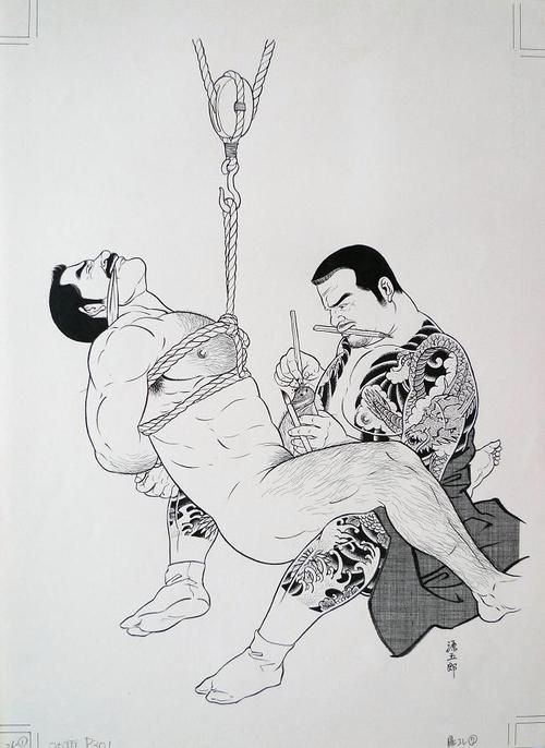 Gengoroh Tagame is the iconic Japanese erotic illustrator who has proactively rejected images of western homoerotic sexuality and connected his illustrations with the aesthetics of the traditional Japanese Shunga.