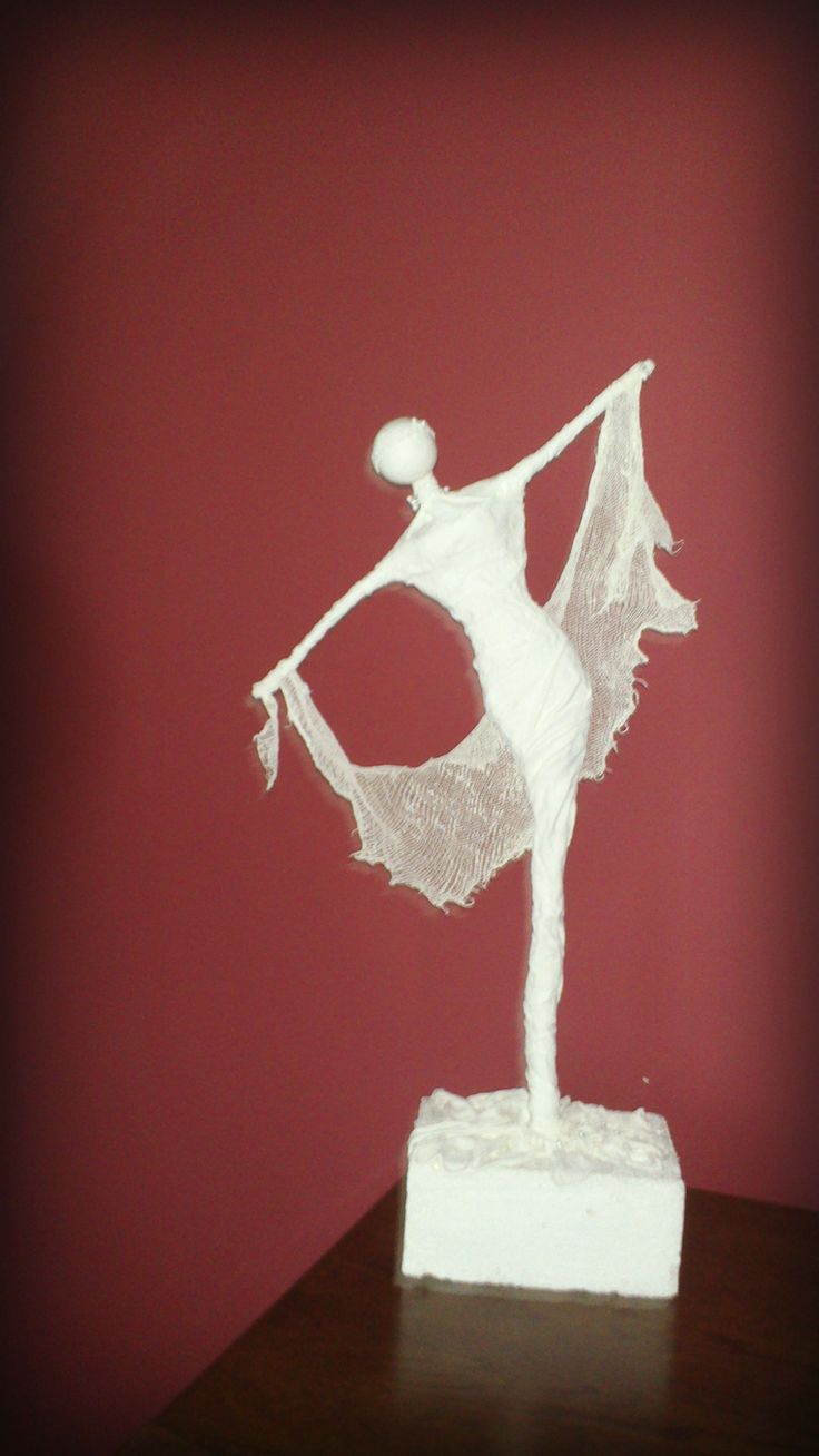"""Greek Muse"" figurine using powertex"