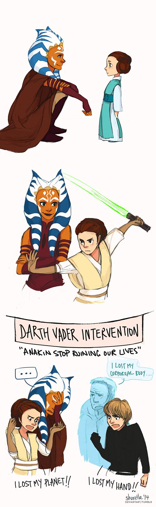 star wars - ahsoka and leia AU by shorelle.deviantart.com on @deviantART