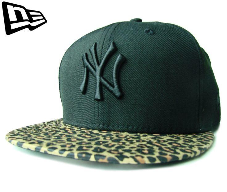 """(ニューエラ) NEW ERA 9FIFTY """"NEW YORK YANKEES"""" レオパードバイザー ブラックXヒョウ柄 スナップバック【LEOPARD】【BLACK】【黒】【newera】【帽子】【ニューヨーク・ヤンキース】【メジャー】【豹柄】【CAP】【キャップ】【アニマル】【NY】【SNAPBACK】"""