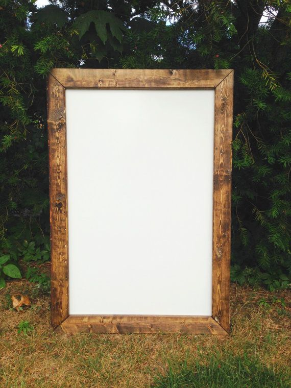 This listing is for one rustic dry erase whiteboard. The dry eraser whiteboard is edged with real wood to give it a farmhouse/barnwood style look.  All chalkboard signs and frames are handmade, sanded, and stained for longevity. **The rustic dry eraser board comes in all sizes and stains.**  **Dry erase boards come with hardware for hanging included.**  SIZES: (size represents the length of the frame) (more available upon request)  -24x48 -18x48 -24x36 -22x26 -20x33 -20x22 -18x24 -15x24 ...