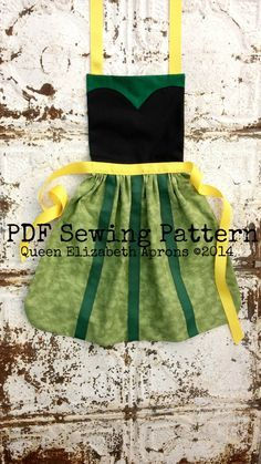 Queen Elizabeth Aprons copyright© 2014 and beyond. This pattern is for personal use only. Finished product may not be used for Retail resale or Commercial use. Written in US measurements. English language only.  This listing is for a Sewing Pattern to make your own Coronation Anna Child Apron. A PDF file will be available for download immediately after purchase. You can easily print it out from your computer. Find great embroidery patterns here: https://www.etsy.com/shop/OCDEmbroidery…
