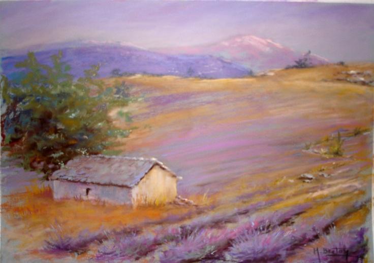 Bergerie en Provence Pastels by Michel Breton : http://fr.artscad.com/@/BretonMichel