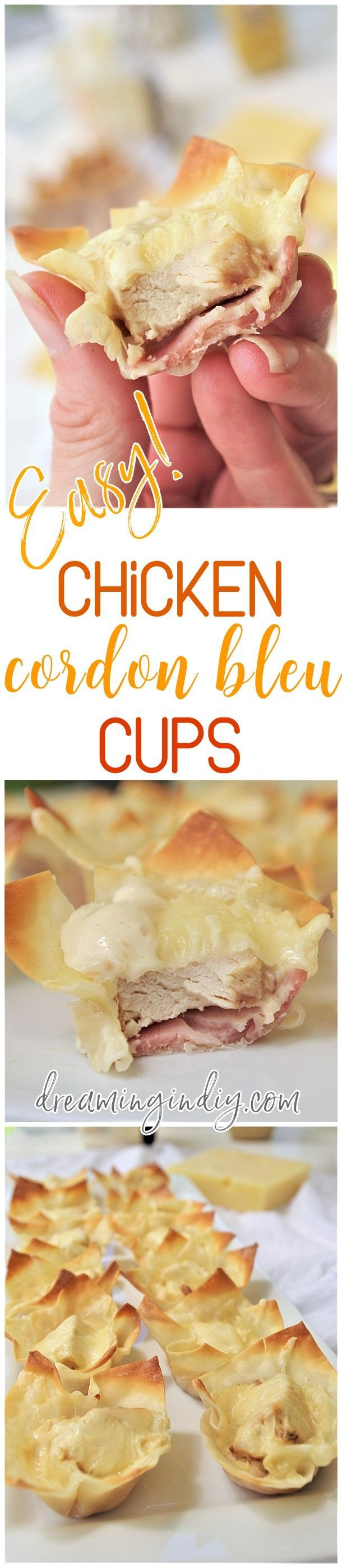 Chicken Cordon Bleu Cups – Easy Yummy Bite Sized Appetizer