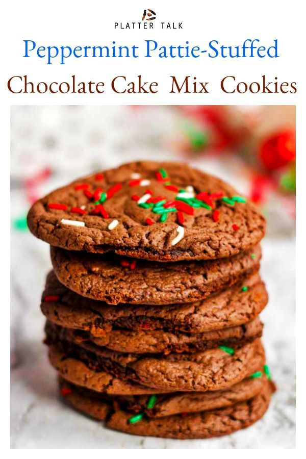These Chocolate Cake Mix Cookies From Platter Talk Have A Minty