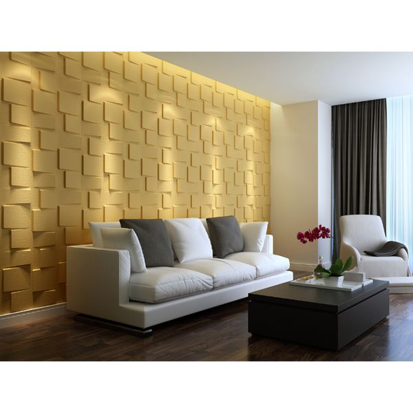 Create a three-dimensional look for your home decor with 3D wall panel blocks that can be arranged in a variety of patterns. Cast light above the patterns for an intensified appearance, or arrange the