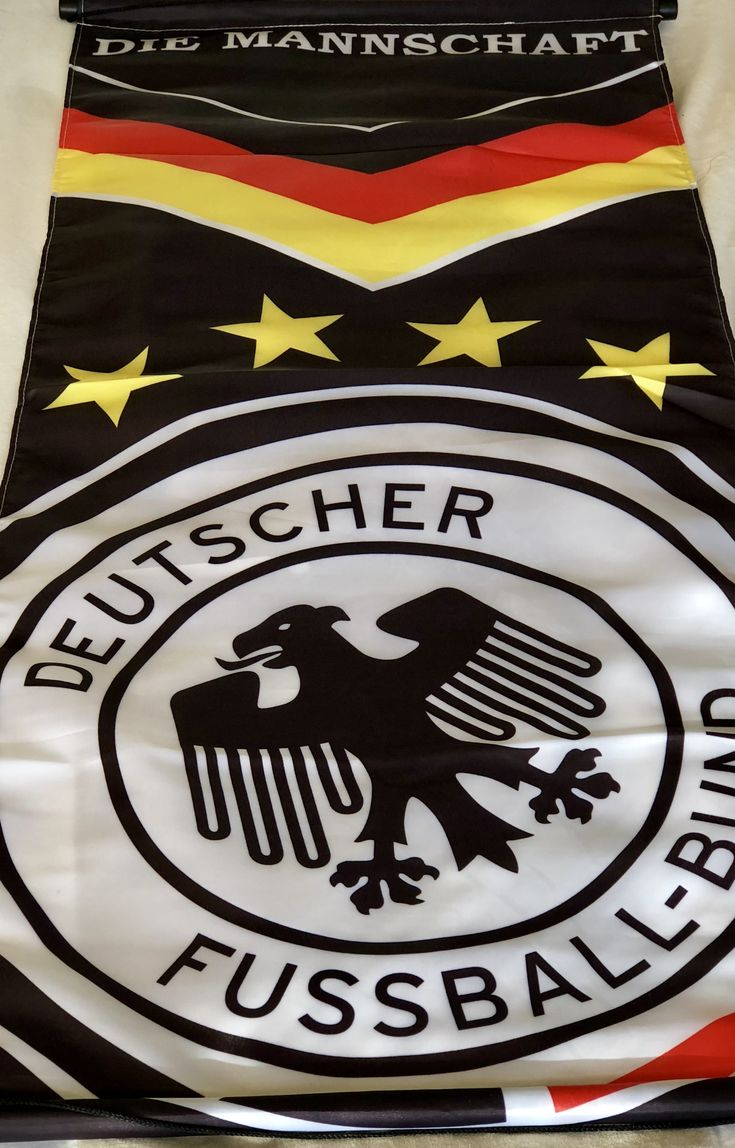 This is cool way to bring in the German flag colors along with soccer!