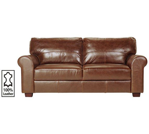 Buy Heart of House Salisbury 3 Seater Leather Sofa - Tan at Argos.co.uk - Your Online Shop for Sofas, Living room furniture, Home and garden.