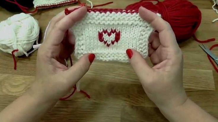Škola pletení - falešný norský vzor, vyšívání na úplet