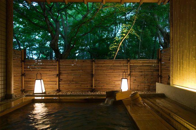 - Luxury Travel to Japan luxurytraveltojapan.com #japantravel #Beniyamukayu #onsen  Ishikawa Beniya Mukayu onsen hot spring bath Luxury Travel to Japan