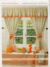 Revistas de manualidades Gratis: Como hacer cortinas paso a paso #decoraciondecocinasvintage