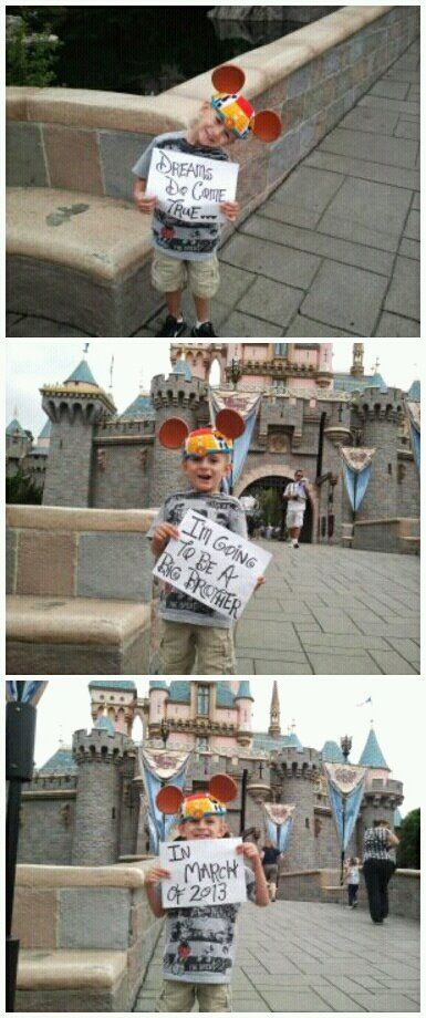 Our Disney Baby Announcement in Disneyland last year. Now we need to go back with Taylor!!!