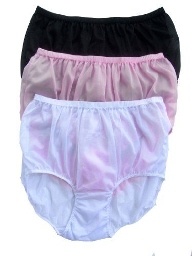 CLICK IMAGE TWICE FOR PRICING AND INFO :) #women #panties #lingerie #briefpanties #intimates #undergarment see more granny panties at http://zpanties.com/category/panties-categories/granny-panties/ - Lot 3 Piece Wholesale Granny Briefs Panties 100 % Nylon Knickers Lingerie Mix Colour Size 2xl « Z Panties