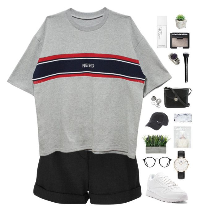"""""""Need"""" by f-resh ❤ liked on Polyvore featuring IRO, Reebok, Ray-Ban, Daniel Wellington, NIKE, Pieces, NARS Cosmetics and Miss Selfridge"""