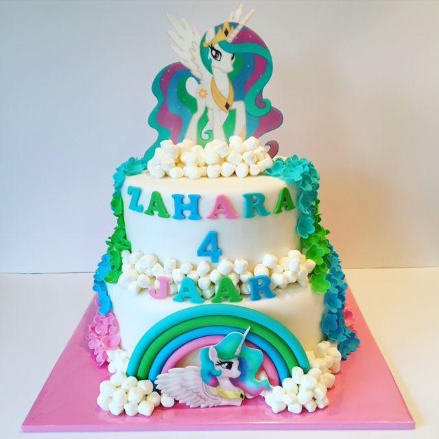 Afbeeldingsresultaat voor prinses celestia taart