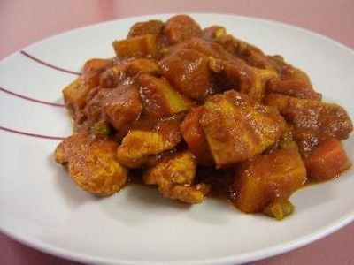 Sweet Tomato and Chicken Curry recipe