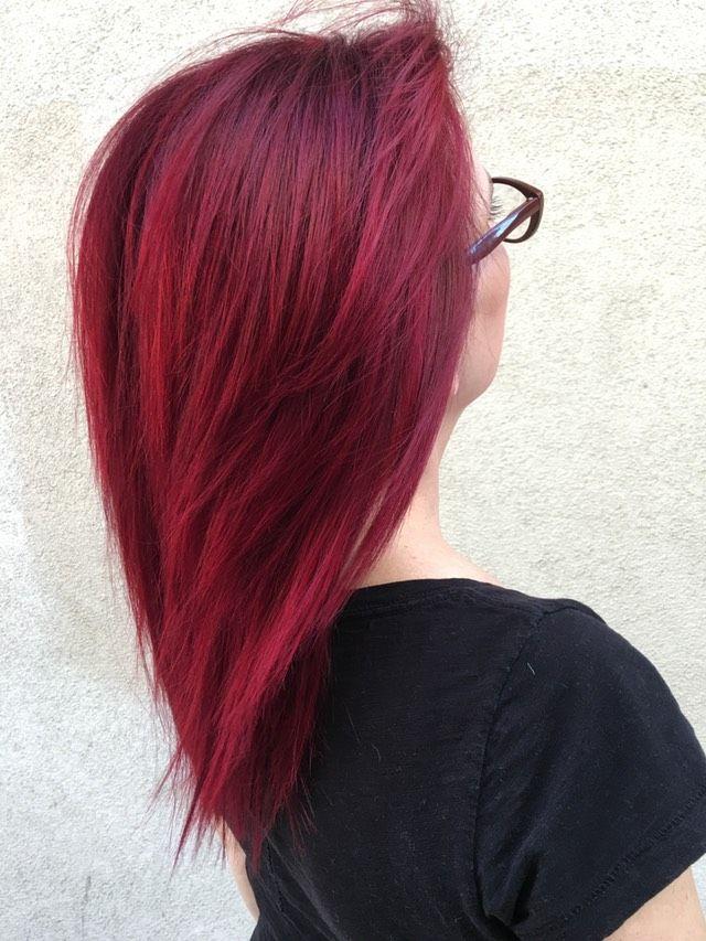 Red velvet hair coloring
