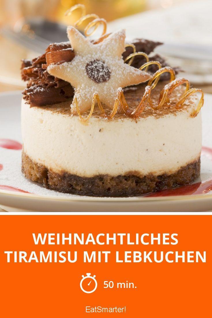 Weihnachtliches Tiramisu mit Lebkuchen - smarter - Zeit: 50 Min. | eatsmarter.de