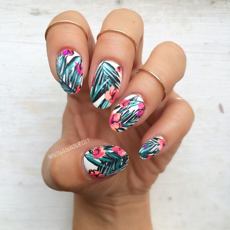 i cant get the tropical nails out of my system make it stop