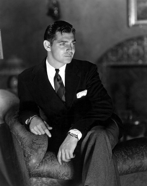 Clark Gable, 1933. Not many photos of him without his trademark mustache.