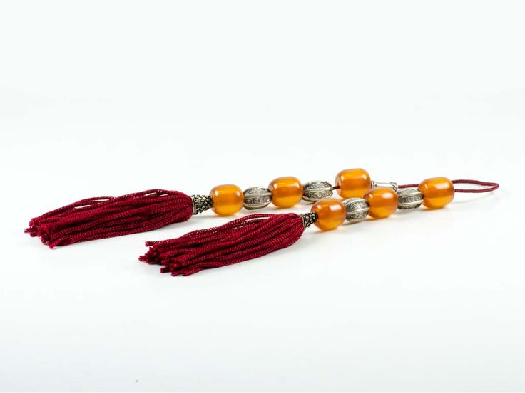 Vintage Sudurus Orange Mastic Greek Worry Beads Begleri 15x15mm 925
