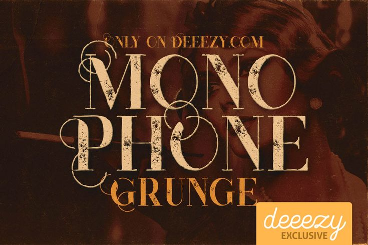 Monophone Grunge Font – Deeezy – Freebies with Extended License
