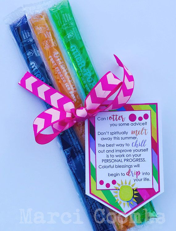 Personal Progress Popsicles! The perfect something to hand out to your Young Women this summer! Can't go wrong with Otter Pops!