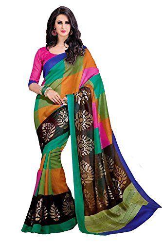 Trendz Bhagalpuri Cotton Silk Saree(TZ_Rangoli) Check more at http://www.indian-shopping.in/product/trendz-bhagalpuri-cotton-silk-sareetz_rangoli/