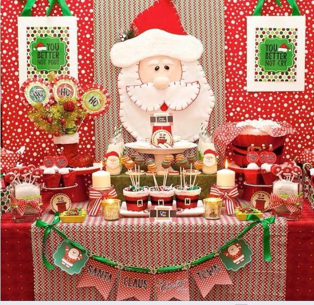 Mesa de dulces para Navidad