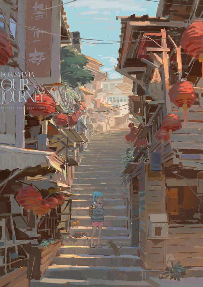 OurJourney, Krenz Cushart on ArtStation at https://www.artstation.com/artwork/NrgyJ