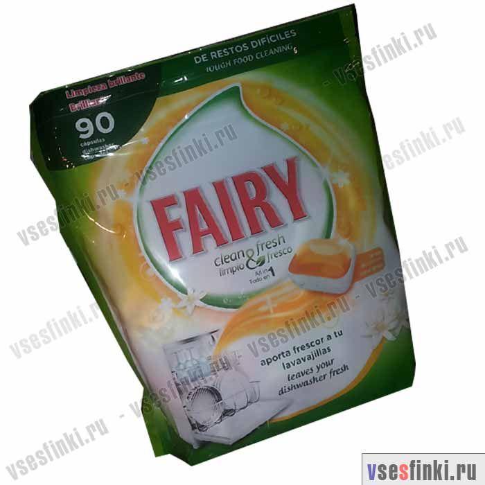 Таблетки для посудомоечных машин Fairy Цитрус 90 шт