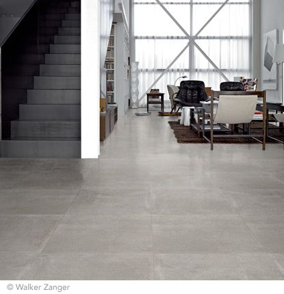 Walker Sanger 21. 24'' x 24'' Cemento Grey Field Tile.  Looks like concrete. recommended by Meredith.