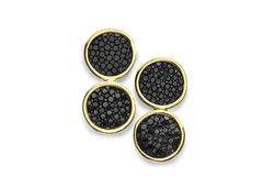 Black Stingray Meng Earrings