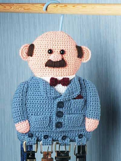 This is cute, but for a little boy. Can't see any man in my life ever using it. Belt Holder - free crochet pattern