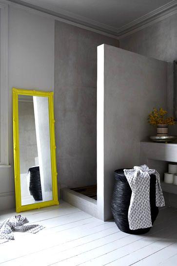 minimalist shower mirror