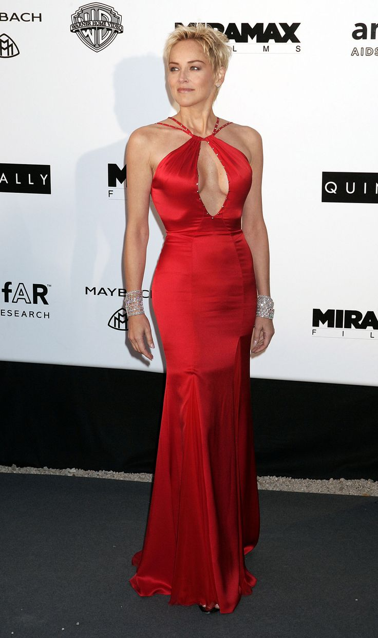 Sharon Stone amfAR Cannes 2004