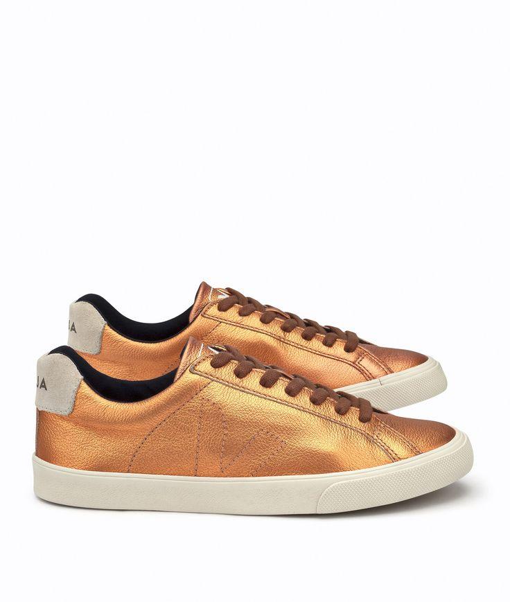 #ethical #fashion Veja Esplar Low Leather Copper • Faire Schuhe für Damen • glore