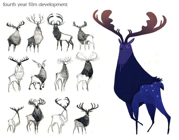 Character Design And Development : Best images about creature design deer on pinterest