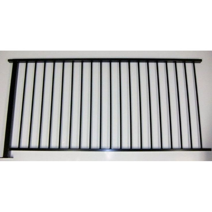 Protector Aluminium 2000 x 1010mm Black Balustrade Fence Panel With Post