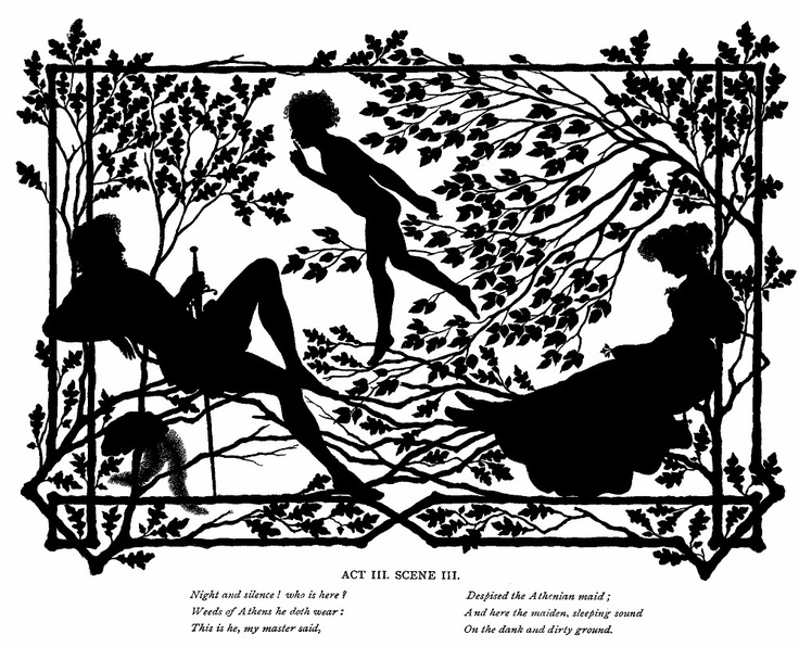 lysander puck and hermia in the athenian wood one of