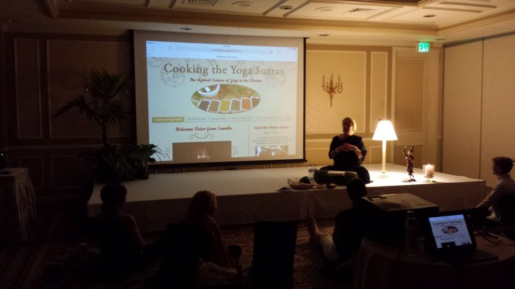 Presenting Cooking the Yoga Sutras at the Fairmont Southampton:  Bermuda Yoga Festival 2014