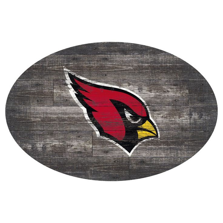 NFL Arizona Cardinals 46 Distressed Wood Oval Sign