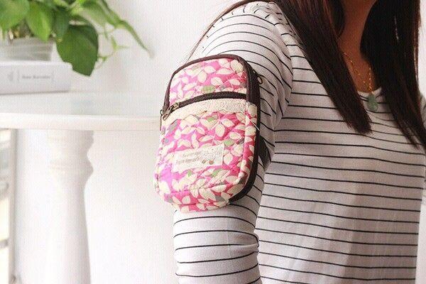 Bohemian Sports Armband Multifunctional Pockets Workout Running ArmBag Phone Bag Smartphone Bag