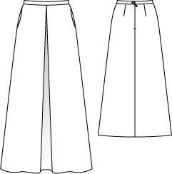 Юбка - выкройка № 126 из журнала 11/2012 Burda – выкройки юбок на Burdastyle.ru