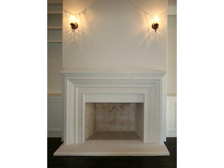 classic ii de vinci cast stone fireplace surround more - Stone Fireplace Surround